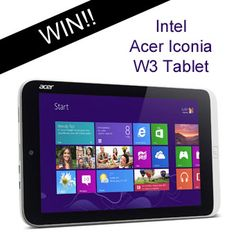 Win an Intel Acer Iconia W3 Tablet http://www.shibleysmiles.com/2013/09/intel-acer-iconia-w3-tablet-giveaway.html/comment-page-4#comment-217148
