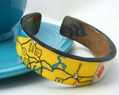 Florida Vacation - Recycled Cardboard Cuff by butternutsquash, $12.50
