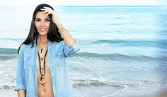 Bohemian Beach Jewelry. Vacation jewelry, trendy jewelry, shark tooth necklace, rosary necklace, horn necklace all by Bianca Milov Jewelry. Shop now at www.biancamilov.com
