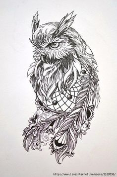 Owl Dreamcatcher Tattoo Love this one for sure Owl Tattoo Design, Tattoo Designs, Owl Tattoo Drawings, Tattoo Sketches, Owl Sleeve Tattoos, Tattoo Owl, Art Sketches, Owl Dreamcatcher Tattoo, Buho Tattoo