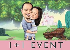 Excited to share this item from my #etsy shop: OPEN EVENT 1+1=25EUROS!! #art #print #digital #caricature #digitaldrawing #handdrawing #customcaricature #couplegift #weddinggift