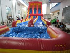 water slide with pool for sale