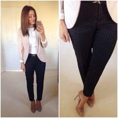 Workwear, polka dot trousers