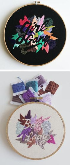 Valeria Molinaris Embroidered Sayings Inspired by Love of Words
