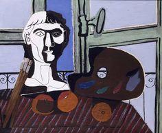 Pablo Picasso - Buste et Palette - 1925