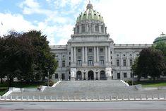 Pennsylvania State Capitol: Harrisburg. Built 1902-1906. Architectural Style: Beaux-Arts and Renaissance Revival.
