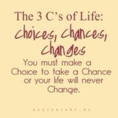 YOU have a choice to take a chance on yourself to positively change your health & fitness.  You're worth it!
