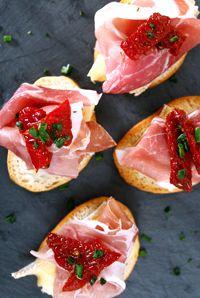 DeLallo Italian Antipasti Recipes: Sun-Dried Tomato & Brie Bruschetta