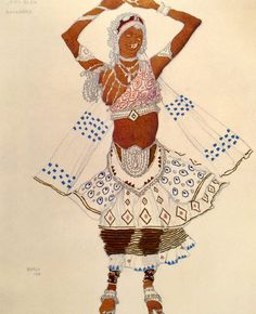 Leon Bakst. Costume of a bayadere. Sktech. Л.С.Бакст. Эскиз костюма баядерки.