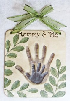 Mother/son handprints