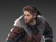 D D Characters, Fantasy Characters, Fictional Characters, Fantasy Character Design, Character Concept, Chivalry, Bergen, Jon Snow, Fantasy Art
