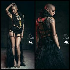 Création Nefertari 100% Hair Art /Couture  Murielle Kabile designer