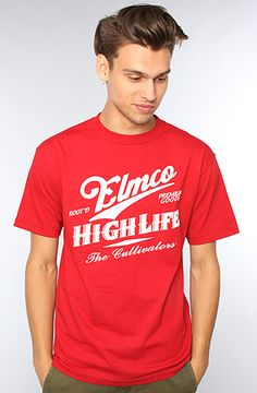 The High Life Tee in Cardinal