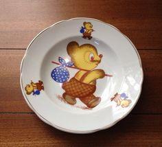 Vintage Leart Brazil child's bear bowl by TheCatzPajamas on Etsy