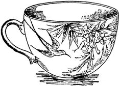 Victorian Tea Cup --> If you're in the market for the most popular adult coloring books and writing utensils including colored pencils, drawing markers, gel pens and watercolors, visit our website at http://ColoringToolkit.com. Color... Relax... Chill.