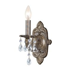 I pinned this Montfort Crystal Wall Sconce I in Venetian Bronze from the Gold Coast Lighting event at Joss and Main!