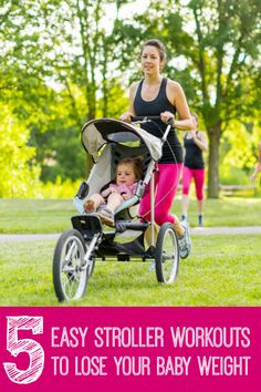Who has time for the gym with a baby? As a mom, the only time I have to exercise is when I am out strolling with my little one. After 2 kids and trying tons of workouts, I found these 5 are the most effective and easy to do. (http://www.happymomcentral.com/stroller-workout)