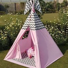 Kids Teepee Tent, Play Tents, Teepees, Girls Tent, Viking Tent, Shark Pillow, Childrens Tent, House Tent, Bamboo Poles
