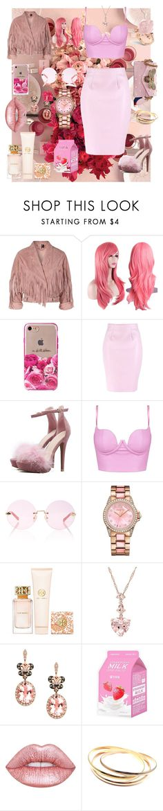 """""""Pink Pink panther"""" by joy-chiquita-godboldo ❤ liked on Polyvore featuring Topshop, Kate Spade, Karen Walker, Juicy Couture, Tory Burch, Effy Jewelry, Charlotte Russe, Lime Crime, Cartier and Gucci"""