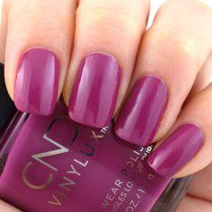 Secret Diary Cnd Shellac Colors, Nail Polish Colors, Engagement Nails, Beauty Over 40, Cnd Vinylux, Secret Diary, Bright Purple, Nail Manicure, Swatch