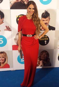 Vanesa Romero en la premier de La que se avecina con vestido Alicia Rueda