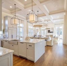 Kitchen flooring is reclaimed Heart Pine. Wide kitchen flooring kitchen-flooring Geoff Chick & Associates The lights-bree Home Decor Kitchen, New Kitchen, Home Kitchens, Kitchen Dining, Dining Room, Kitchen Paint, Kitchen Cabinets, Kitchen Decorations, Apartment Kitchen