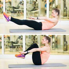 Pokud chcete získat do léta formu, je nejvyšší čas začít. Zvlášť jestli je vaší problémovou partií břicho. To totiž vyžaduje nejen racionální stravu, ale i správné cvičení na zpevnění ochablých svalů! Plank Workout, The Row, Gym Equipment, Abs, Running, Fitness, Sports, Hs Sports, Crunches
