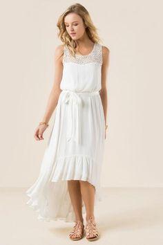 Molly Ruffle High Low Dress $19.98                      $48.00