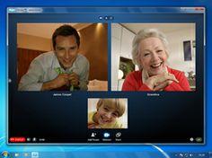 tegenwoordig gaan sommige vergaderingen niet meer met z'n allen in 1 ruimte maar via de computer bijvoorbeeld met skype.