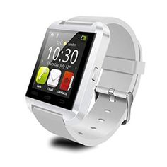 Anxinke Smart Wrist Watch Phone Mate Bluetooth 4.0 sport watch with Pedometer Anti-lost Camera for Android Phones(White). Altitude Meter,Passometer,Photograph, Barometer, Vibration. Ringing reminder when you receive a call. Ring reminder when your Android 2.3 or above smart phone receive a message (including Wechat, Facebook, Twitter,WhatsApp, Skype,and so on). Anti-lost alarm function: When cellphone left watch alarm automatically, after a certain distance to avoid lose the phones. 1…