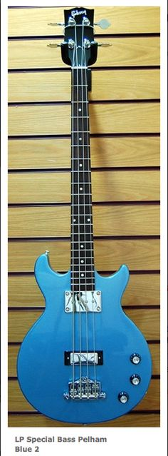 EB0 Gibson Bass reissue from 2012 in Pelham Blue. Now with two pickups and normal machine heads.... I prefer the original!