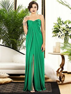 Dessy Collection Bridesmaid Dress 2879 in #Emerald gorg if we were to go long dresses. #megswedding