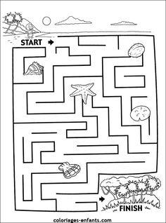 (2015-12) Ø, mellem Mazes For Kids Printable, Worksheets For Kids, Maze Puzzles, Girls Together, Preschool Activities, Coloring Books, Diagram, Printables, Riddles