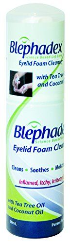 Blephadex Eyelid Foam Cleanser - Innovative, Comfortable Solution for Blepharitis and Demodex - 1 Month Supply - With Tea Tree Oil, Coconut Oil and a Gentle Eyelid Cleanser Blephadex http://www.amazon.com/dp/B00NI0D6T6/ref=cm_sw_r_pi_dp_AFXEvb05JFJYH