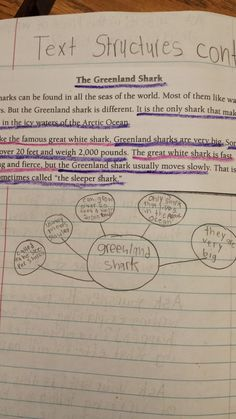 Teaching Nonfiction Text Structures- Using think maps in interactive notebooks!