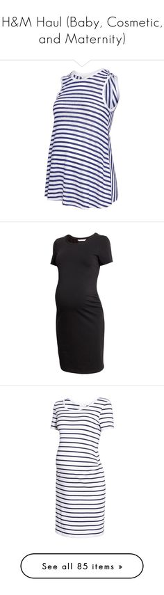 """""""H&M Haul (Baby, Cosmetic, and Maternity)"""" by designing-myworld ❤ liked on Polyvore featuring maternity, black, dresses, cotton jersey, white jersey, leggings, pantalon enceinte, dark turquoise, long sleeve dress and long sleeve shirt dress"""