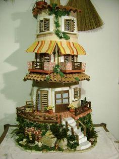 Clay Houses, Miniature Houses, Miniature Dolls, Clay Flower Pots, Clay Flowers, Paper Flowers, Fairy Garden Pots, Fairy Garden Houses, Bottle Painting