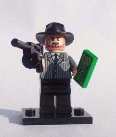 NEW CUSTOM 100% LEGO BATMAN WEAPONS GANGSTER MOB GUY THUG W/ CASH AND TOMMY GUN #LEG0