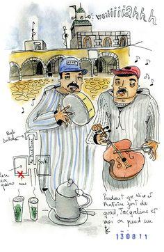 Morocco Sketchbook Trip - amaia arrazola illustration