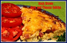Sweet Tea and Cornbread: Hash Brown Ham and Cheese Quiche!