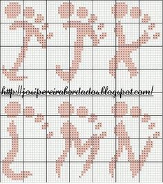 Cross-stitch Alphabets Footprints, part 2 ... no color chart available, just use pattern chart as you color guide... or choose your own colors. Gallery.ru / Фото #83 - Идеи для филейного вязания - Putnik59