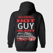 Warning Hot Guy Alert Hoodie