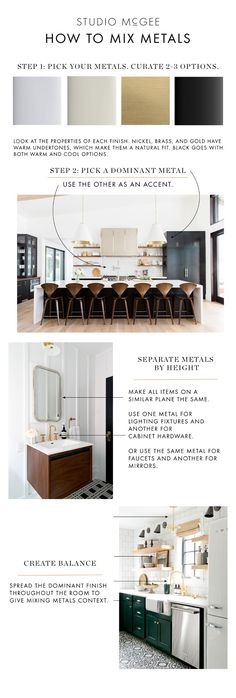How to Mix Metal Finishes. How to Mix Metal Finishes Tips. How to Mix Metal Finishes. How to Mix Metal Finishes. How to Mix Metal Finishes Via Studio McGee Interior Design Tips, Interior Design Kitchen, Home Design, Design Ideas, Pantry Interior, Design Styles, Luxury Interior, Interior Inspiration, Design Design