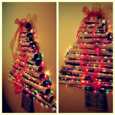 Easy and cheap Christmas tree! (That's what she said!)