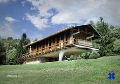 Carlo Mollino /// Luigi Cattaneo house (Villa K2) (Casa sull'altipiano) /// Agra, Italy /// 1952-1953