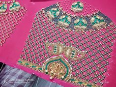 Work Blouse, Hand Designs, Blouse Designs, Boho Shorts, Stitching, Blouses, Beads, Women, Fashion