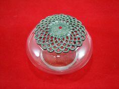 SALE Vintage Glass Jar with Pewtew Lid. by RichardsRarityRealm