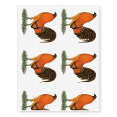 Gamecock Ginger Red Rooster Temporary Tattoos #newyear #tattoos