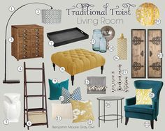 Mood Board Gallery: Traditional Twist   Teal and Lime