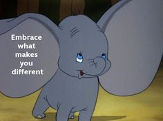 The only Disney character that never makes a sound. Guess that's why I love Dumbo! Disney Love, Disney Magic, Walt Disney, Dumbo Disney, Great Quotes, Inspirational Quotes, Motivational, Pomes, After Life